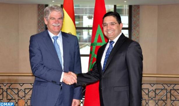 """بوريطة : المغرب وإسبانيا يرتبطان بعلاقة تعاون """"نموذجية"""" في مجال محاربة الهجرة السرية والإرهاب"""