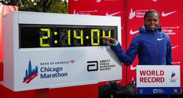 الكينية كوسغي تحطم الرقم القياسي لسباق الماراتون سيدات بشيكاغو