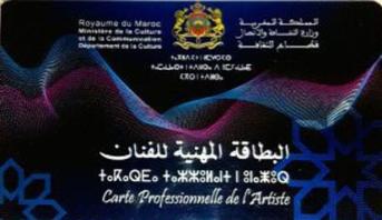 منح البطاقة المهنية للفنان والبطاقة المهنية لتقنيي وإداريي الأعمال الفنية ل3508 مستفيد