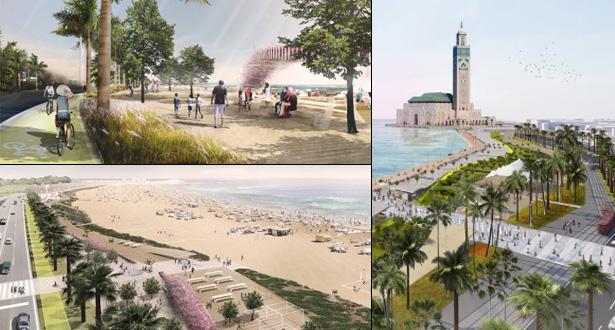 تفاصيل مخطط إعادة تهئية كورنيش عين الذئاب ومنتزه مسجد الحسن الثاني