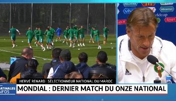 Mondial: dernier match du onze national