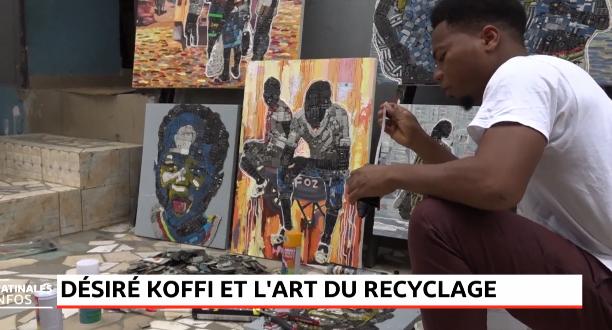 Désiré Koffi et l'art du recyclage