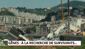 Gênes: Les secours à la recherche des survivants
