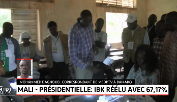 Présidentielle au Mali: Ibrahim Boubacar Keïta réélu pour un second mandat