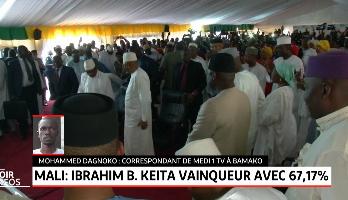 Mali: Ibrahim Boubakar Keïta vainqueur avec 67,17%