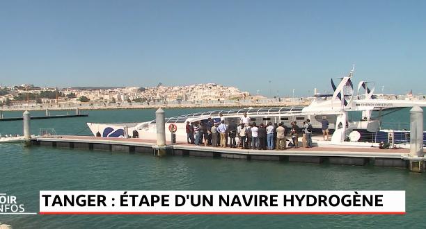 Tanger : étape d'un navire hydrogène