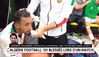 Algérie football: 131 blessés lors d'un match