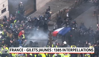 """""""Gilets jaunes"""": 1385 interpellations"""