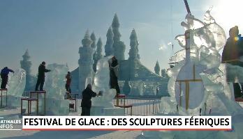 Festival de glace: des sculptures féeriques