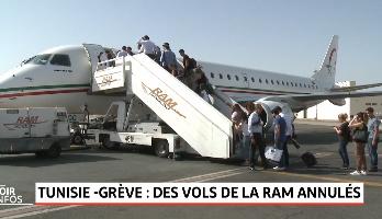 Grève en Tunisie: des vols de la RAM annulés