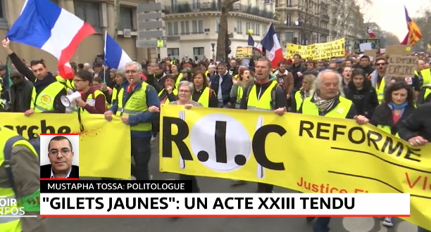 «Gilets jaunes» : Près de 28.000 manifestants en France, heurts et interpellations à Paris