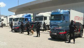 أمن ميناء طنجة يحبط عملية تهريب كمية كبيرة المخدرات