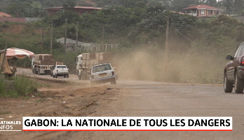 Gabon: la nationale de tous les dangers
