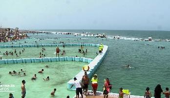 Rabat: forte affluence à la grande piscine