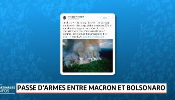 Incendies en Amazonie: passe d'armes entre Macron et Bolsonaro