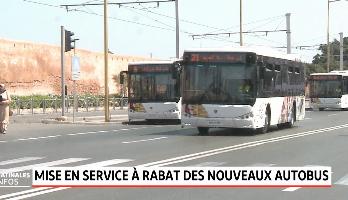 Rabat: mise en service des nouveaux autobus