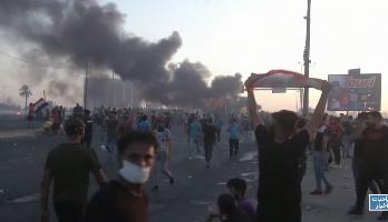 بغداد .. ارتفاع حصيلة المواجهات بين المتظاهرين وقوات الأمن