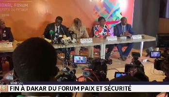 Fin à Dakar du forum paix et sécurité