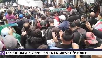 Algérie: les étudiants appellent à la grève générale