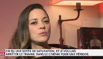 """Marion Cotillard: """"J'ai eu une overdose de rôles de cinéma et j'ai voulu vivre ma vie"""""""