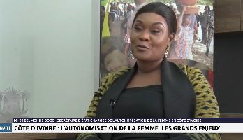 Myss Belmonde Dogo, Secrétaire d'Etat chargée de l'autonomisation de la femme en Côte d'Ivoire, revient sur l'accompagnement du gouvernement ivoirien