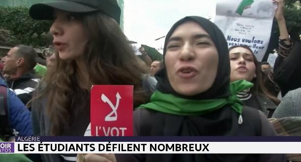 Algérie: les étudiants protestent à quelques jours de la présidentielle