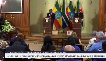 Le premier ministre éthiopien en déplacement en Afrique du Sud