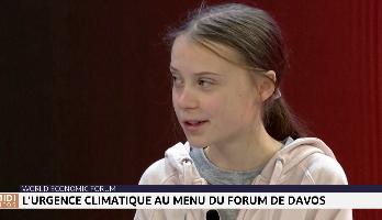L'urgence climatique au menu du Forum de Davos