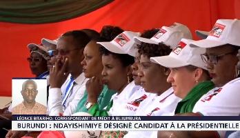 Burundi : Ndayishimiye désigné candidat à la présidentielle