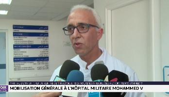 Coronavirus : mobilisation générale à l'hôpital militaire Mohammed V