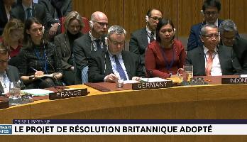 Crise libyenne : le projet de résolution britannique adopté