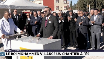 Le Roi Mohammed VI lance un chantier à Fès