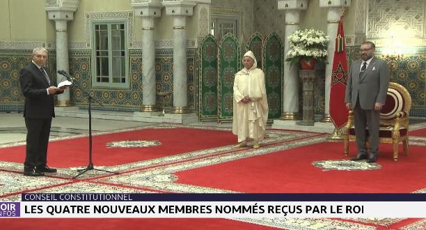 Le Roi Mohammed VI reçoit les quatre nouveaux membres nommés à la Cour Constitutionnelle