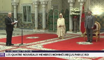 Conseil constitutionnel: les quatre nouveaux membres nommés reçus par le Roi Mohammed VI