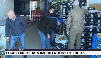 Coup d'arrêt aux importations de fruits