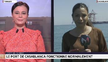 Covid-19: le port de Casablanca fonctionne normalement