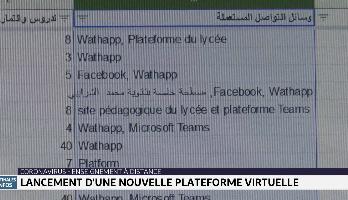 Enseignement à distance: lancement d'une nouvelle plateforme virtuelle