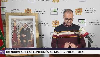 107 nouveaux cas confirmés au Maroc, 990 au total