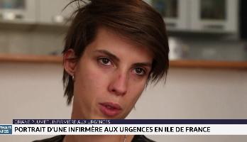 Covid-19: portrait d'une infirmière aux urgences en Île de France