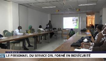 Côte d'Ivoire: le personnel du service ORL formé en biosécurité