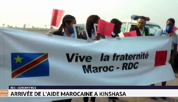 Arrivée de l'aide marocaine à Kinshasa