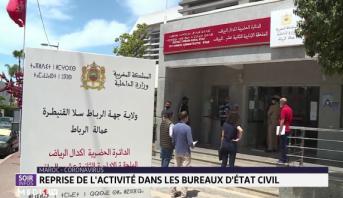 Reprise de l'activité dans les bureaux de l'état civil