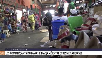 Côte d'Ivoire-Coronavirus: les commerçants du marché d'Adjame entre stress et angoisse