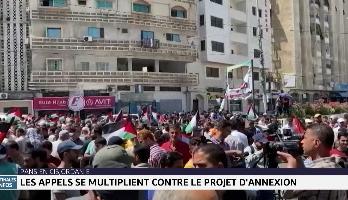 Pans de Cisjordanie: les appels se multiplient contre le projet d'annexion