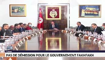 Tunisie: pas de démission pour le gouvernement Fakhfakh