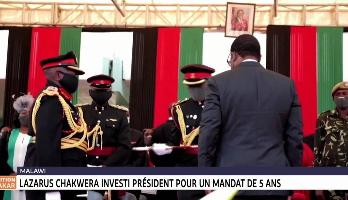 Lazarus Chakwera investi président du Malawi pour un mandat de 5ans