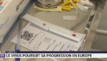 Pandémie: le coronavirus poursuit sa progression en Europe