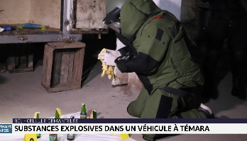 BCIJ: substances explosives dans un véhicule à Témara