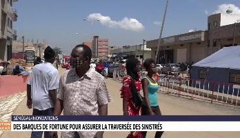 Sénégal: des barques de fortune pour assurer la traversée des sinistrés