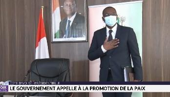 Côte d'Ivoire-Présidentielle: le gouvernement appelle à la promotion de la paix